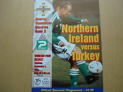 NORTHERN IRELAND v TURKEY SEP 1999