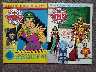 Dr Who Magazine Weekly Issue 35 And 36 Collectable