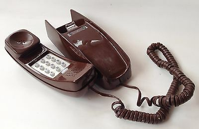 Western Electric Touch tone, Push Button, Brown WALL Phone, Vintage Telephone