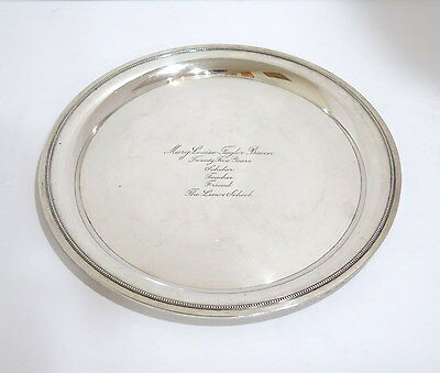 11.5 in - Sterling Silver Tiffany & Co. Antique Plate
