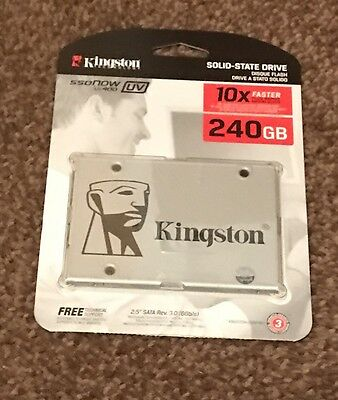 """SSD Kingston UV400 240GB SSD 2.5"""" Solid State Drive Brand New Sealed UK"""