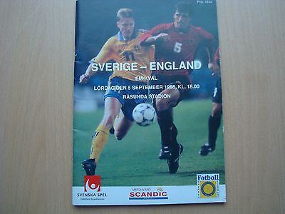 Sweden V England Sep 1998