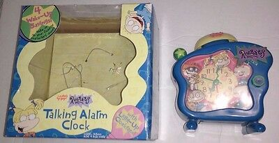 Nickelodeon Rugrats Talking Alarm Clock Vintage 1998 4 Different Sounds