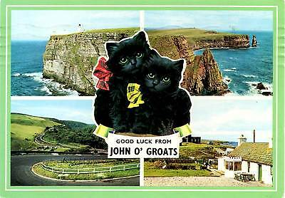 Good luck from John O'Groats - Scotland - Postcard 1989