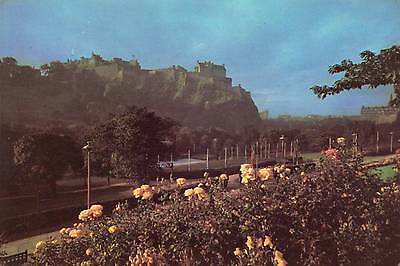 Edinburgh Castle from Princess Street Gardens - Scotland - Postcard 1971