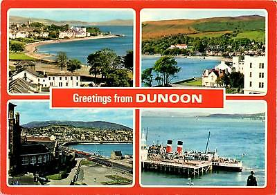 Greetings from Dunoon - Scotland - Multiview - Dennis Postcard 1985