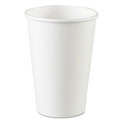 Dixie Paper Cups Hot 16 oz White 1000/Carton 2346W