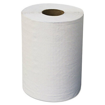 "Morcon Paper Mor-Soft Hardwound Roll Towels 7 7/8"" x 300ft White 12/Carton"