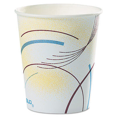 SOLO Paper Water Cups 5 oz. Cold Meridian Design Multicolored 100/Bag 52MD