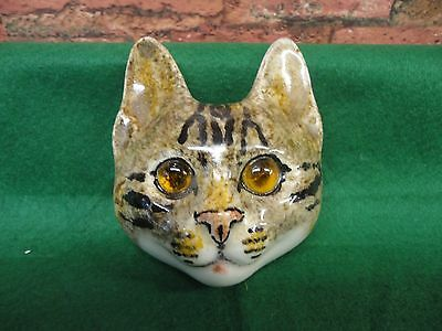 tabby cat face plaque by winstanley