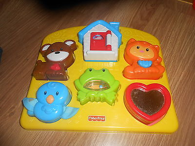 Fisher Price Brilliant Basics Toddler 6 Piece Activity Puzzle Toy (EX COND)