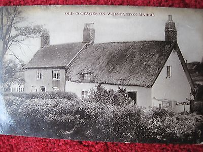 Staffordshire:  Old Cottages On Wolstanton Marsh.     Posted 1906.  R.p.