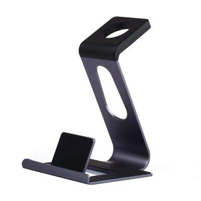 New For Apple Watch 38/42 mm & iPhone Smart Phone Stand Charging Dock Grey