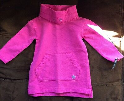 NWT New Pink OshKosh 12 Months Mos Long Sleeve Baby Girl Shirt