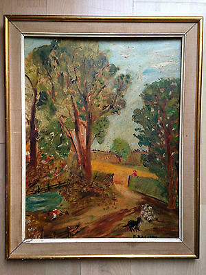 original oil painting on board after John Constable signed by artist circa 60s