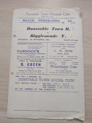 Dunstable Town v Biggleswade Town 4/9/54