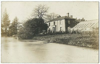 Unidentified Georgian House With Greenhouse RP PC Unposted c1910s