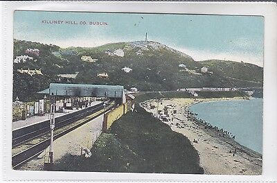 Chas L Reis&co, Dublin, Belfast&glasgow Postcard Killiney Hill, Railway Station