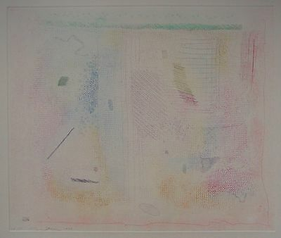 Rare Robert Natkin signed and numbered etching, 1979