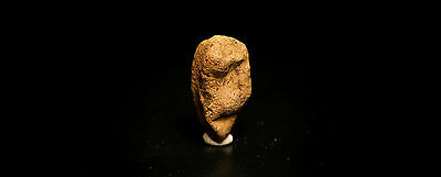 Rare Ancient Paleolithic Clay Figurine of A Male Head