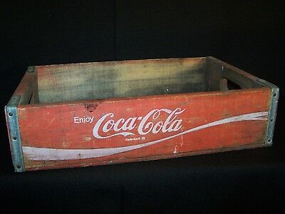 Vintage Red Wooden Coca Cola Soda Crate / Carrier