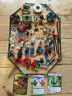 Lego Ninjago Mini Figures cards weapons swords skeleton master snake job lot set