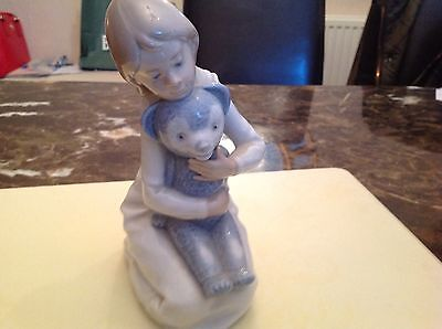 Retired Lladro Nao Girl With Teddy Bear, stunning and in excellent Condition