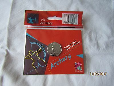 London 2012 Olympic Games 50p coin Archery U.C