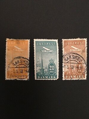 Denmark 1934 Air Stamps Used