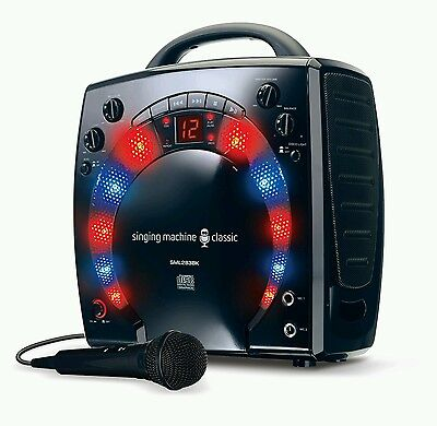 Singing Machine SML-283 Portable CD-G Karaoke Player and 3 CDGs Party Pack-Black