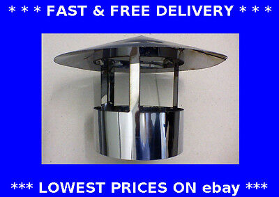 Roof cowl, chimney flue liner, ducting, top plate, woodburner, stove,stainless