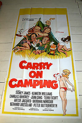 CARRY ON CAMPING - 1969  Original 2 sheet Poster