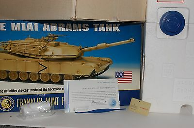 Franklin Mint M1A1 Abrams Tank BOX AND COA ONLY  NO CAR  B11B643 1/24 SC