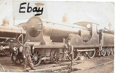 Early (1907) RP post card of LSWR T9 Class Loco No. 304 with crew