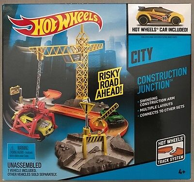 NEW Hot Wheels City Construction Junction Track Playset - FREE SHIPPING!