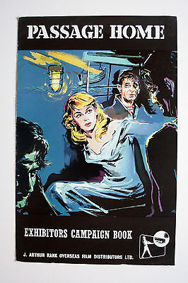 PASSAGE HOME - 1955 Original Campaign Book & poster. Peter Finch