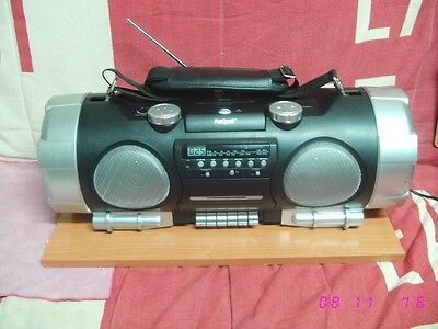 Radio CD MP3 TAPE BOOMBOX MARQUANT MPR-51CD GHETTOBLASTER stereo Powered woofer.