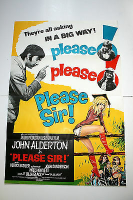 PLEASE SIR! 1971 Original One Sheet Poster