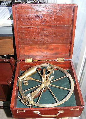 Antique Sestrel-London Reflecting Circle With Wooden Box