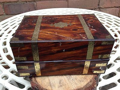 Antique Collectable Macfarlane Lang & Co Rosewood Style Tin Plate Biscuit Tin