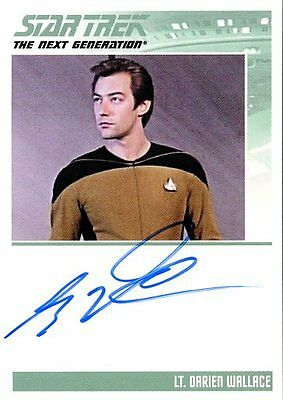 Star Trek: The Complete TNG Series 2 AUTOGRAPH card GUY VARDAMAN as LT WALLACE