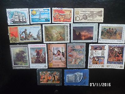 Russia stamps - Mixed used Famous Paintings, Soldiers, Double stamp etc.,