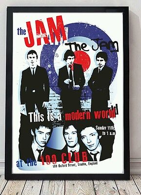 The Jam original poster artwork. Size a3 Celebrating famous venues and gigs.
