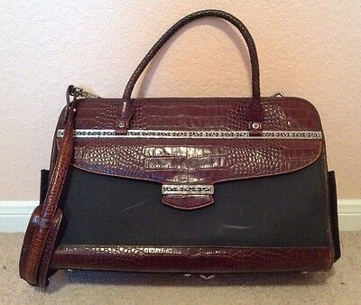 Brighton Brown and Black Leather Briefcase