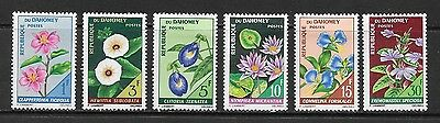 Dahomey. 1967. Flowers Complete Set Hinged Mint.