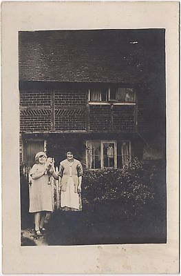 Real Photo Postcard Unknown House People Women Whitstable Kent Location Where?