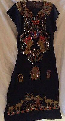 Halloween Costume Egyptian Cleopatra The Queen Embroidery kaftan Outfit Dress