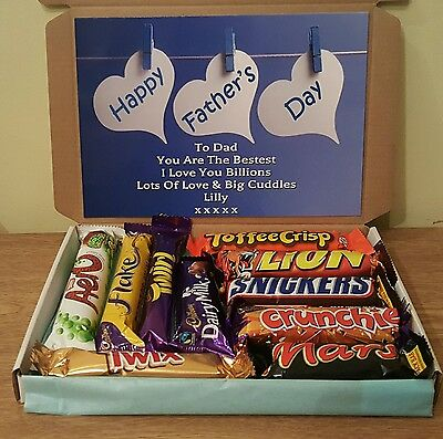 Fathers day selection Chocolate gift Box gift hamper PERSONALISED
