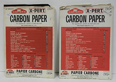 Vintage Carter's X-PERT Carbon Paper. 6 New. 6 Used