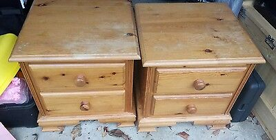 Two solid pine bedside tables drawers - winnie the pooh edition.